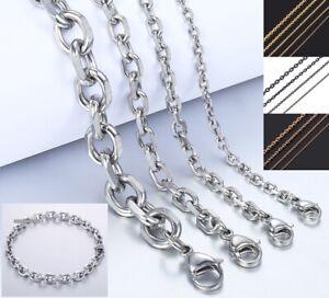 Ankerkette Armband Edelstahl Massiv 10-100 Halskette Damen Herren Geschenkbeutel