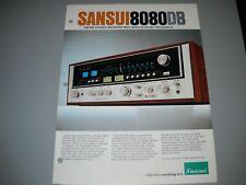 New listing Sansui 8080Db Receiver, Brochure original Manual
