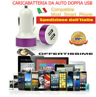 Caricatore USB universale da auto iPhone Apple, Andriod cellulari, tablet