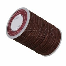 Brown Polyester Thread Necklace Cords 0.5mm Craft Round Waxed Twisted Wire 120m