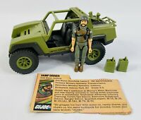 1982 GI Joe VAMP Multipurpose Attack Vehicle & Clutch Action Figure & File Card