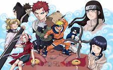 Poster A3 Naruto Naruto Kakashi Sasuke Sakura Gaara Temari Kankuro Neji Hinata