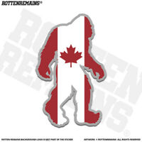Canada Flag Bigfoot Decal Sticker Canadian Sasquatch Big Foot V2 EMV