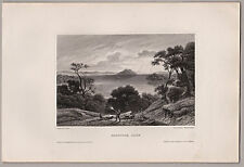 United States - Saratoga Lake, Saratoga County, New York. Stich, Stahlstich 1850