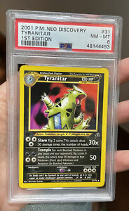Tyranitar 1st Edition Neo Discovery NM MT 8 PSA Pokemon #31