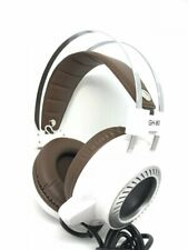 Jedel Over-Ear Gaming Headset Headphones White With Green LED For PC Laptop