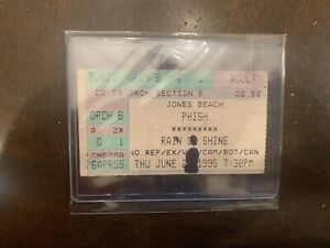 Phish Ticket Stub In Case 06/28/1995 JONES BEACH WANTAGH, NY New York NYC