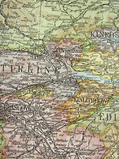 1919 LARGE MAP ~ SCOTLAND ~ INVERNESS PERTH ARGYLL WIGTOWN LANARK BERWICK