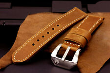 SV 26mm Veg Brown Leather Strap Band for 45mm/47mm Panerai PAM Radiomir Watch