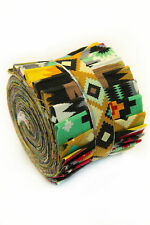 2.5 inch Aztec Tribal Jelly Roll 100% cotton fabric quilting Southwest strips