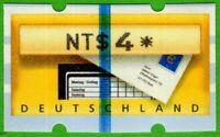 Deutschland ATM 5 Testpapier blauer Streifen mit Taiwan Aufdruck NT$4 postfrisch