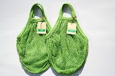 Confezione da 2 BOULEVARD Stringa shopping bag, riciclato cotone greggio, MANICI CORTI