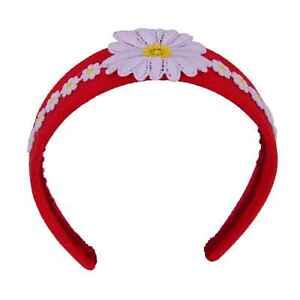 Dolce & Gabbana Chamomile Blumenmuster Headband Red White Hairband Flower 06382