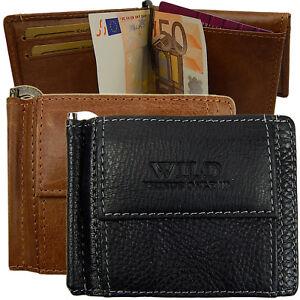 Portemonnaie Geldbeutel mit Scheinklammer Leder Geldbörse Dollarclip Klappbörse
