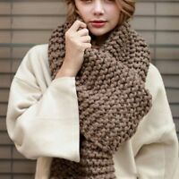 Women Scarf Winter Wool Knitted Scarves Soft Comfortable Thick Warm Handmade