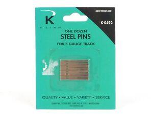 K-Line Trains K-0492 S Gauge Steel Track Pins 12 Pack