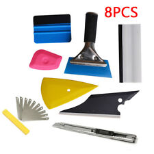 8in1 Squeegee Car Window Tinting Auto Film Install Wrapping Applicator Tools Kit