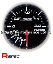 ** NEW MECHANICAL **  Prosport 52mm Smoked Super White Turbo Boost Gauge - BAR