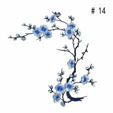 New Plum Blossom Flower Applique Embroidery Sticker Sew Iron On Cloth Patch #14