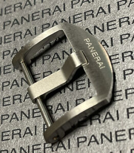 Very Rare 100% Authentic Panerai Thumbnail Brushed Tang Buckle 22mm
