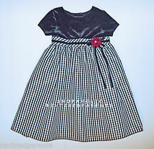 SOPHIE ROSE - DRESS - CHRISTMAS – FANCY - BLACK – WHITE –SPARKLE –SIZE 4T -NEW
