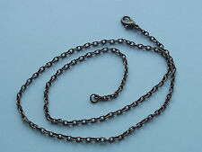 "UK Jewellery 12 Pcs 18"" Antique Bronze Style Lobster Clasp Link Chain Necklaces"