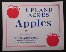 VINTAGE NEW HAMPSHIRE APPLE CRATE LABEL - SCARCE NEW ENGLAND FRUIT CRATE LABEL