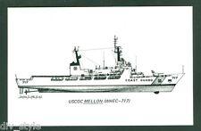 USCGC Mellon WHEC-717 postcard US Coast Guard High Endurance Cutter