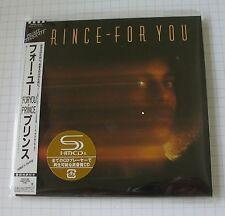Prince-For You Japon SHM MINI LP CD OBI NOUVEAU! WPCR - 13530