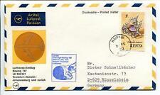 FFC 1972 Lufthansa PRIMO VOLO LH 541 Boeing 747 - Nairobi Francoforte
