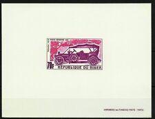 NIGER VIEUX TACOTS DAIMLER 1910 OLD CARS EPREUVE DELUXE DIE PROOF ESSAY MNH 1969
