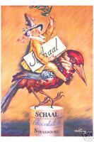 VINTAGE French CHOCOLATE PRINT POSTER - Chocolat Schaal