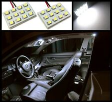 2 HID white 12 LED interior dome map light SMD panels Xenon bulbs lamp #A1