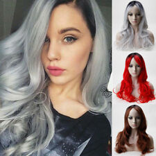 Fashion Ladies Full Wig Long Curly Hair Natural With Bangs Cosplay Wigs Omber UK