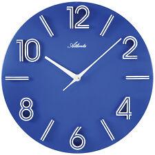 Atlanta 4397/5 Wanduhr Quarz analog blau rund Quarzuhr Seniorenuhr Gro�Ÿe Anzeige