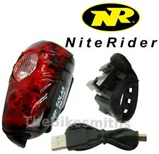 Niterider Solas 250 Red Tail Light USB Rechargeable Daylight Visible Bike lamp