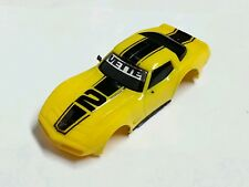 Tyco Yellow~Black Corvette Slot Car Body Free S&H