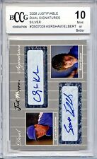 CLAYTON KERSHAW 2006 Justifiable Silver Auto rookie #12/25 BGS BCCG 10 MINT!