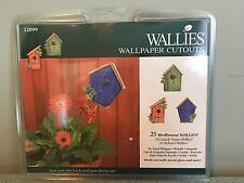 "Wallies Wall Paper Cut Outs 25pkg Birdhouses 4"" Pre-pasted Washable"