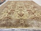 Decorative Muted Dye Vintage 1970-1990s Wool Pile High-End Oushak Rug 7x9ft