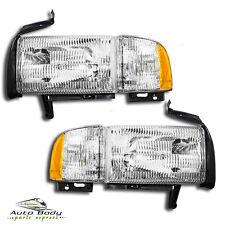 94-01 Dodge Ram 1500 Pickup Truck Headlamps Headlights Pair Set Left & Right