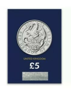 The QUEENS BEASTS five pound 2018 UK dragon of wales CERTIFIED BU