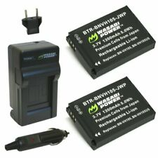 Wasabi Power Battery (2-Pack) and Charger for JVC BN-VH105