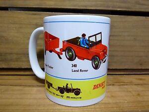 300ml COFFEE MUG, DINKY TOYS NO.340 & 341 LAND ROVER AND TRAILER