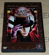 Charlie And The Chocolate Factory (2DVD, 2 Discs) MADE IN ARGENTINA