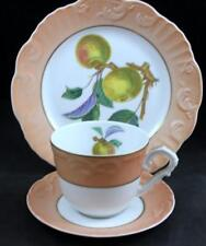 Mottahedeh SUMMER FRUIT Trio Salad Plate + Cup & Saucer Apple GREAT CONDITION