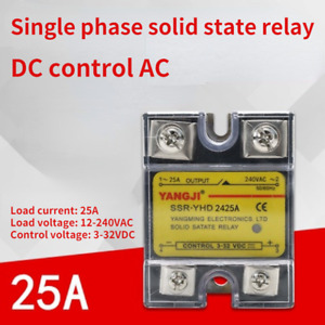 Single-phase DC controlled AC DC-AC SSR solid state relay YHD2425A 240VAC 25A