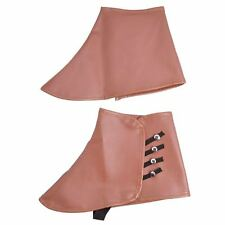 NEW BROWN FAUX LEATHER 1920s STEAMPUNK SPATS VICTORIAN FANCY DRESS SHOE COVERS