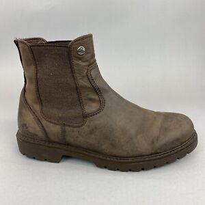 Panama Jack Brown Distressed Leather Chelsea Work Walking Boots EU43 UK9