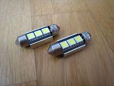 Canbus 3 SMD LED Number License Plate Light Bulbs VW Transporter T5 MK5 5 White